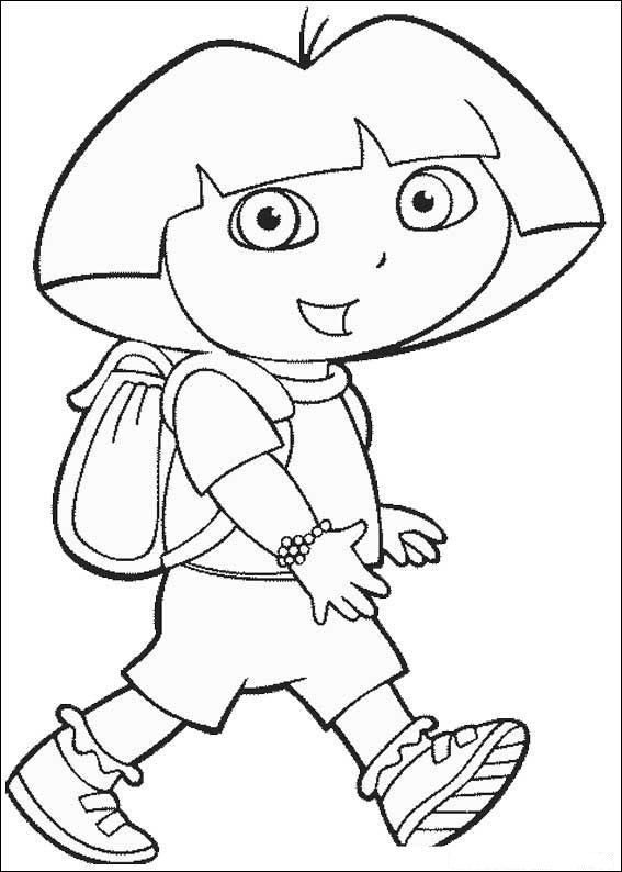 Ausmalbilder von Dora The Explorer (4)