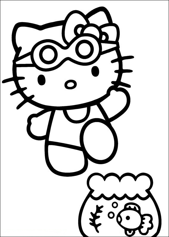Hello Kitty ausmalbilder 25