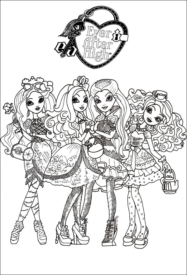 Ausmalbilder von Ever After High 10